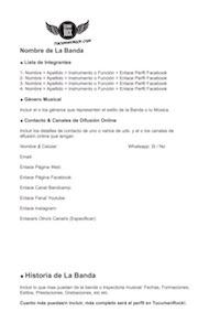 TucumanRock La Histora De Mi Banda FORMATO OFICIAL Template DOC